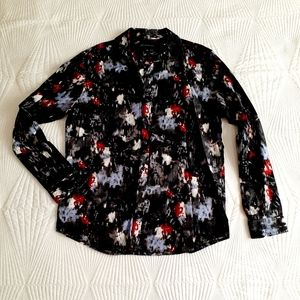 INC Abstract Button Down Shirt